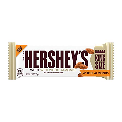 Hershey's - HERSHEY'S White With Whole Almonds Candy, 2.6 Oz