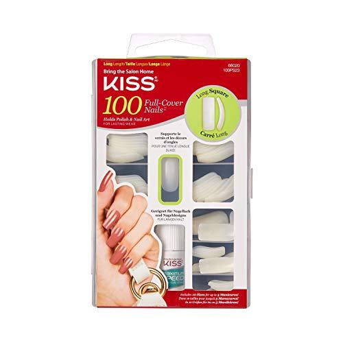Kiss - Kiss 100 Full Cover Nails Long Square