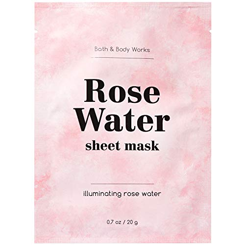 Bath & Body Works - Bath and Body Works ILLUMINATING ROSE WATER Face Sheet Mask, 1 Sheet