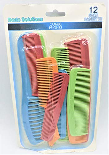 Unknown - Sassy & Chic Plastic Combs, 12 Count