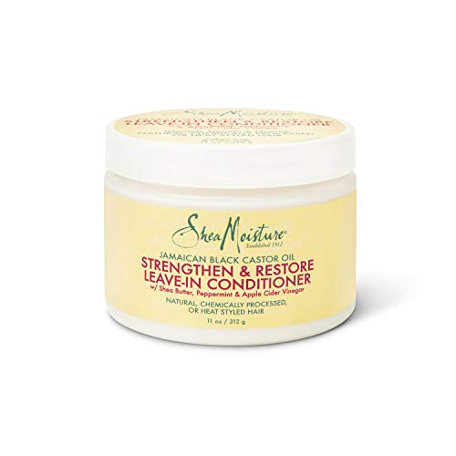 Sheamoisture - SheaMoisture Jamaican Black Castor Oil Leave In Conditioner for Over-Processed, damaged hair 100% Pure Jamaican Black Castor Oil to Soften and Detangle Hair 11 oz
