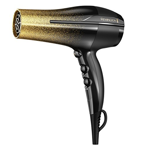 Remington - Remington Titanium Fast Dry Hair Dryer with Ionic and Ceramic Technology, Black & Gold Glitter, D5951