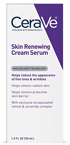 Cerave - CeraVe Skin Renewing Cream Serum - Retinol Cream Serum & Face Moisturizer/Anti Aging Face Cream, Wrinkle Cream & Moisturizer for Face w Hyaluronic Acid, 1 oz