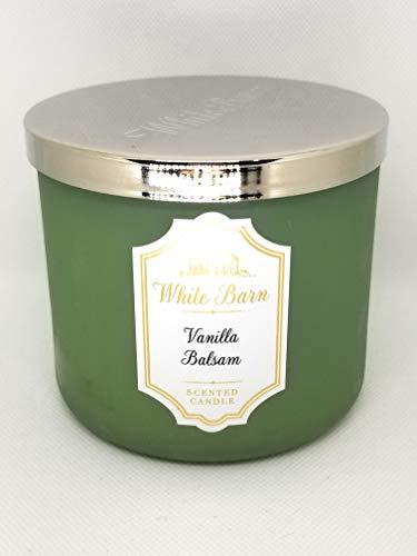 Bath & Body Works - White Barn 3 Wick Candle, Vanilla Balsam