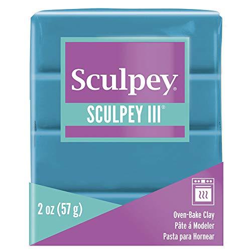 Sculpey Sculpey III Polymer Clay 2oz-Teal Pearl