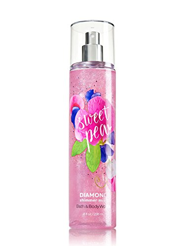 Bath & Body Works - Bath and Body Works SWEET PEA Diamond Shimmer Mist 8 Fluid Ounce