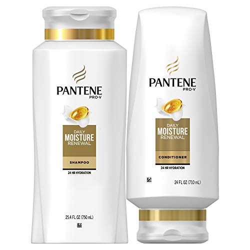 Pantene - Pantene Moisturizing Shampoo and Conditioner for Dry Hair, Daily Moisture Renewal, Bundle Pack, Bundle