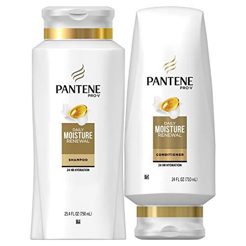 Pantene - Pantene Moisturizing Shampoo and Conditioner for Dry Hair, Daily Moisture Renewal, Bundle Pack, Bundle