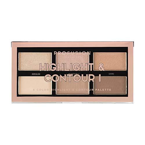 Profusion Cosmetics - Profusion Cosmetics Mini Artistry Highlight & Contour I Palette - Light Medium