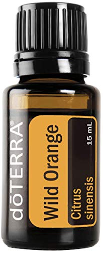 Doterra - doTERRA Wild Orange Essential Oil - Powerful Cleanser and Purifying Agent, Supports Healthy Immune Function, Uplifts Mind and Body; For Diffusion, Internal, or Topical Use - 15 ml