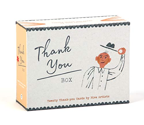 Princeton Architectural Press - Thank You Box: 20 Thank-You Cards by 5 Artists (Blank Inside - All Occasion - 20-count Thank You Notecard Set)