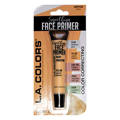 LA Colors - L.A. Colors (1) Tube Smoothing Face Primer Color Correcting Makeup Fills In Lines and Pores - Yellow Corrects Dullness CBFP252