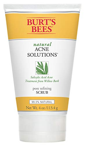 Burts Bees - Burt's Bees Natural Acne Solutions Pore Refining Scrub, Exfoliating Face Wash for Oily Skin, 4 Ounces
