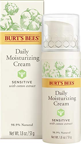 Burts Bees - Burt's Bees Daily Face Moisturizer Cream for Sensitive Skin, 1.8 Ounces (Packaging May Vary)