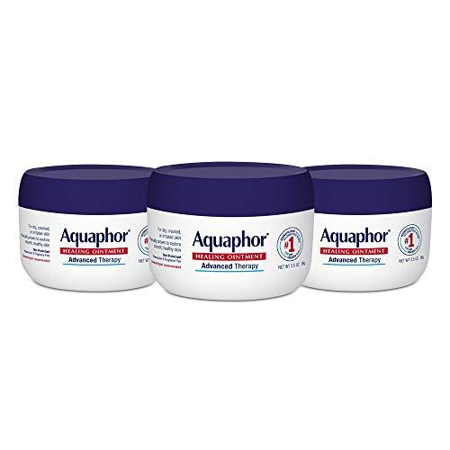 Aquaphor - Aquaphor Healing Ointment - Skin Protectant for Dry Cracked Skin - Hands, Heels, Elbows - 3.5 oz Jar (Pack of 3)
