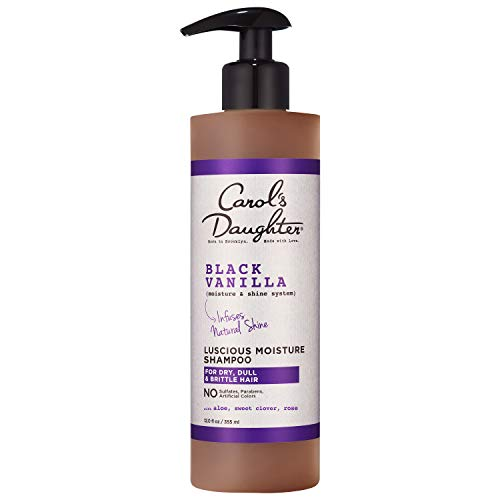 Carol'S Daughter Carol's Daughter Black Vanilla Moisture & Shine Sulfate Free Shampoo For Dry Hair and Dull Hair, with Aloe and Rose, Paraben Free Shampoo, 12 fl oz (Packaging May Vary)