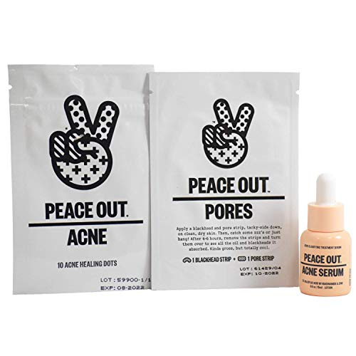 Peace Out - Peace Out Clear Skin Quad Acne Dots, Acne Serum, Blackhead Strip, Pores Strip Set