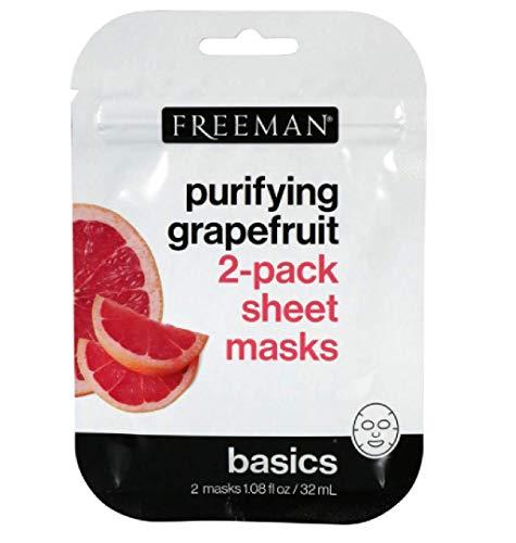 Ph Beauty-Freeman - Freeman Purifying Grapefruit 2 pack sheet masks