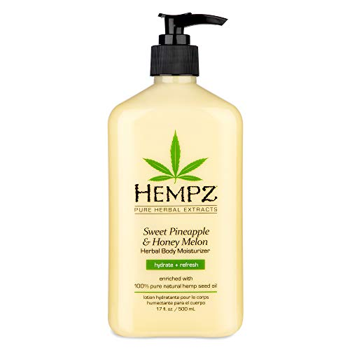 Hempz - Hempz Natural Triple Moisture Herbal Whipped Body Cream with 100% Pure Hemp Seed Oil for 24-Hour Hydration - Moisturizing Vegan Skin Lotion with Yangu Oil, Peach and Grapefruit, 17oz, 2 Pack Bundle