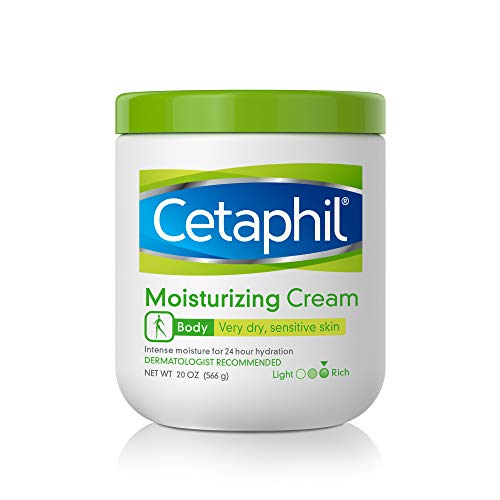 Cetaphil Cetaphil Moisturizing Cream Hydrating Moisturizer For Dry To Very Dry, Sensitive Skin Body Cream Completely Restores Skin Barrier Almond, 20 Ounce
