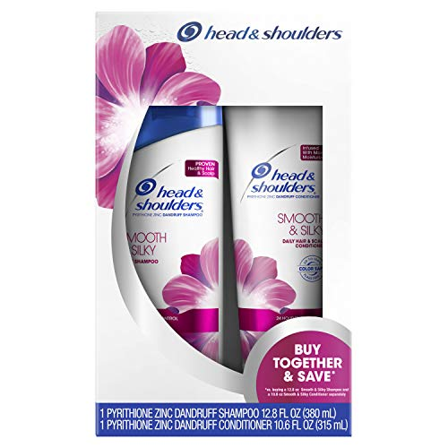 Head & shoulders - Head & Shoulders Smooth & Silky Dandruff Shampoo and Conditioner Twin Pack, 23.4 Fluid Ounce