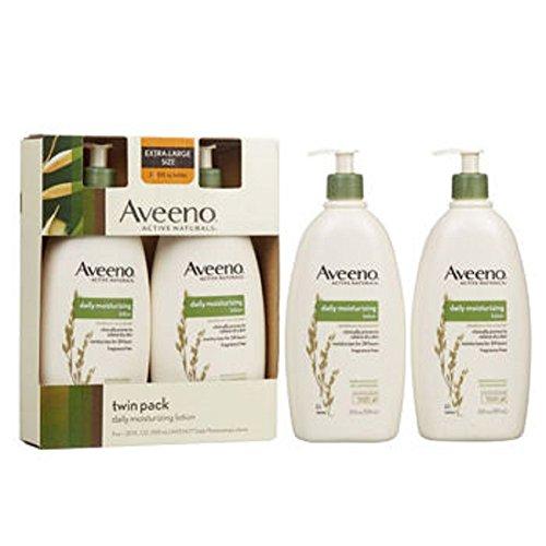 Aveeno - Aveeno Active Daily Moisturizing Lotion, Fragrance Free, 20 oz , Pack of 2 Pump Bottles
