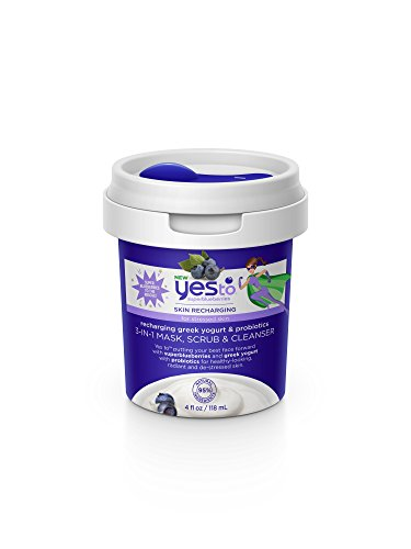 Yes To - Super Blueberries Recharging Yogurt & Probiotics 3-in-1 Mask, Scrub & Cleanser