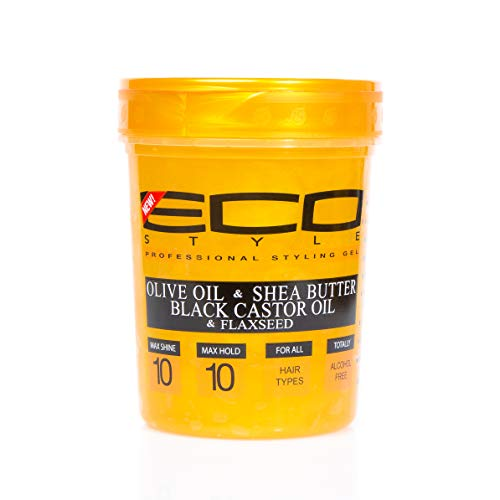 Eco Style - Eco Style Gold Olive Oil & Shea Butter & Black Castor Oil & Flaxseed 32oz