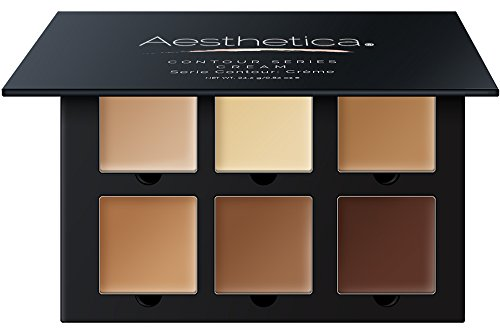 Aesthetica - Aesthetica Cosmetics Cream Contour and Highlighting Makeup Kit - Contouring Foundation/Concealer Palette - Vegan, Cruelty Free & Hypoallergenic - Step-by-Step Instructions Included
