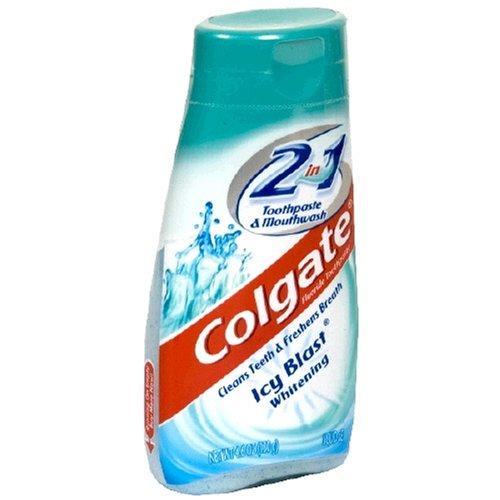 Colgate - Colgate 2n1 Icy Blast Tp Size 4.6z Colgate Icy Blast Whitening Liquid Gel 2-In-1 Toothpaste & Mouthwash