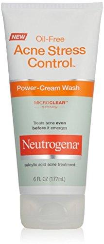 Neutrogena - Neutrogena Oil-Free Acne Stress Control Power-Cream Face Wash, Salicylic Acid Acne Treatment for Acne-Prone Skin, 6 fl. oz