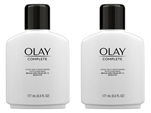 Olay - Olay Complete Lotion All Day Moisturizer with SPF 15 for Sensitive Skin, 6.0 fl oz (Pack of 2)