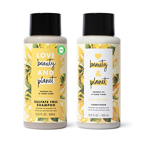 Love, Beauty & Planet - Shampoo and Conditioner, Coconut Oil & Ylang Ylang