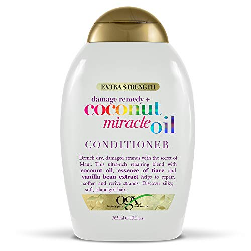 Ogx - OGX Damage Remedy + Coconut Miracle Oil Extra Strength Conditioner, 13 Ounce Bottle  Sulfate-Free Surfactants