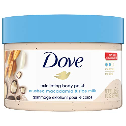 Dove - Dove Exfoliating Body Polish Body Scrub, Macadamia & Rice Milk, 10.5 oz
