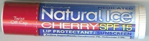 Unique Sports Accessories - Natural Ice SPF15 Cherry Flavor Lip Balm 3 Pack