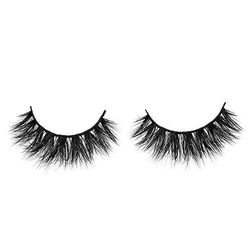 Arison Lashes - 3D Mink Fur Fake Eyelashes 100% Siberian Mink Fur Hand-made False Eyelashes 1 Pair Package