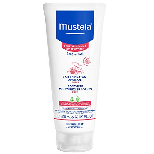 Mustela - Mustela Soothing Moisturizing Body Lotion, Natural Baby Lotion, for Very Sensitive Skin, Fragrance-Free, with Natural Avocado Perseose, 6.76 Ounce
