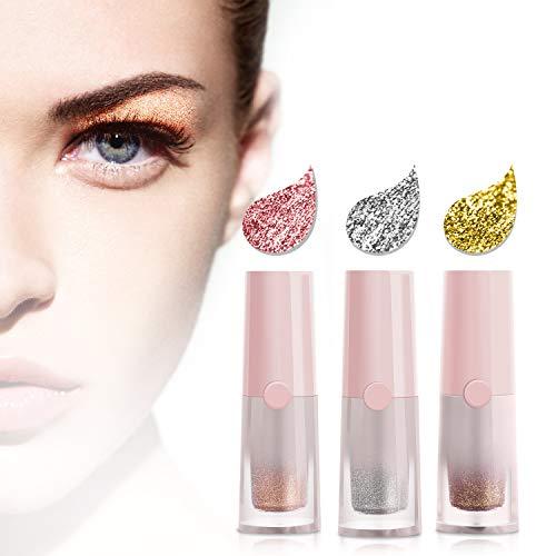 JDO - JDO Liquid Eyeshadow Glitter Eyeshadow Eyeliner Eye Shadow Eye Makeup Waterproof Long Lasting 3 Colors Pink Silver White Gold Brown