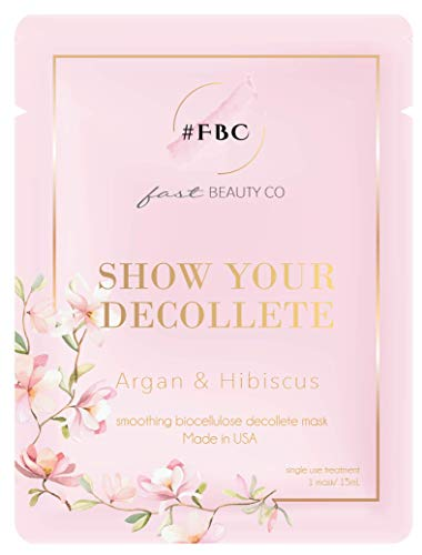 Fast Beauty Co. - Show Your Decollete Chest Mask With Argan & Hibiscus