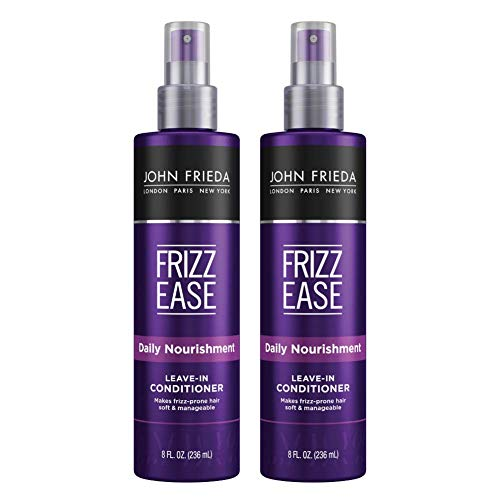 John Frieda - John Frieda Frizz Ease Daily Nourishment Conditioner, Leave-in Conditioner for Frizz-prone Hair, 8 Ounce (Pack of 2), with Vitamin A, C, and E