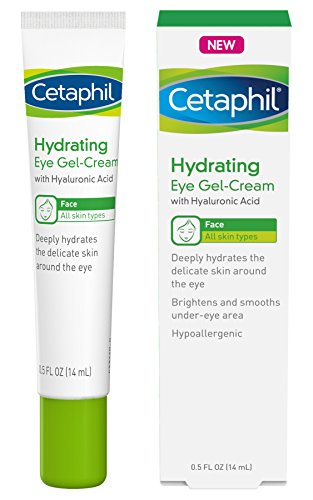 Cetaphil - Cetaphil Hydrating Eye Gel-Cream With Hyaluronic Acid - Designed to Deeply Hydrate, Brighten & Smooth Under-Eye Area - For All Skin Types - Hypoallergenic & Suitable for Sensitive Skin - 0.5 Fl. Oz