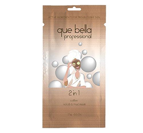 Que Bella PRO - Que Bella 2-in-1 Coffee Scrub & Mud Mask 0.5oz, pack of 1