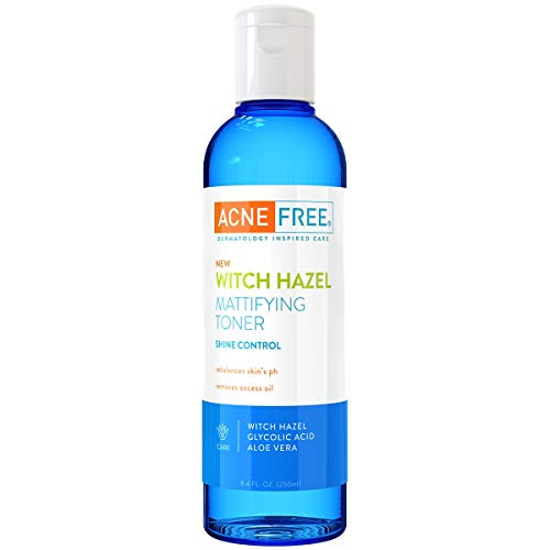 AcneFree - AcneFree Witch Hazel Mattifying Toner 8.4oz with Witch Hazel, Glycolic Acid, Aloe Vera, Toner to Help Rebalance Skin's pH and Remove Excess Oil