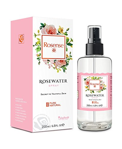 Rosense - Rosense Glass Bottle Rosewater Hydrating Facial Toner/Rose Water Face Mist 6.8 Oz