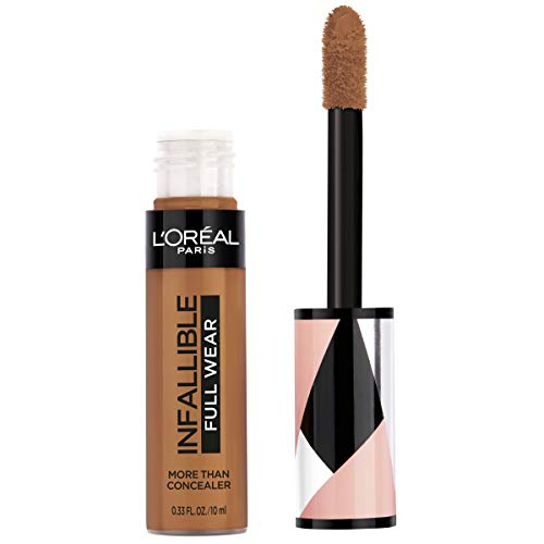 L'Oreal Paris - L'Oréal Paris Makeup Infallible Full Wear Concealer, Full Coverage, EXTRA LARGE Applicator, Waterproof, Multi-Use Concealer to Shape, Cover, Contour & Sculpt, Matte Finish, Cocoa, 0.33 fl. oz.