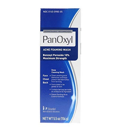 PanOxyl - PanOxyl Acne Foaming Wash - 10% Benzoyl Peroxide, 5.5-Ounce (156 g) Tubes (Pack of 3)