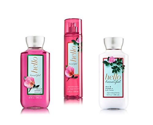Bath & Body Works - Bath & Body Works ~ Signature Collection ~* Hello Beautiful *~ Shower Gel ~ Fine Fragrance Mist & Body Lotion ~ Trio Gift Set