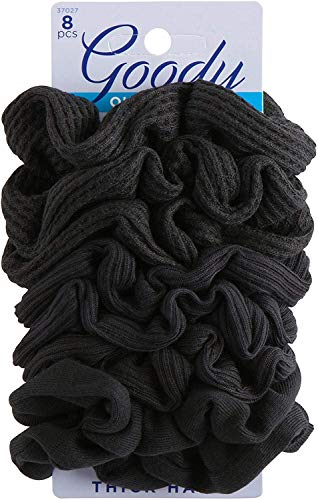 Goody - Goody Ouchless Hair Scrunchie, 8 count, Black