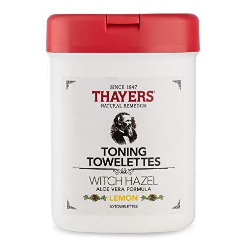 Thayers - Thayers Lemon Witch Hazel Toning Towelettes, 30 wipes